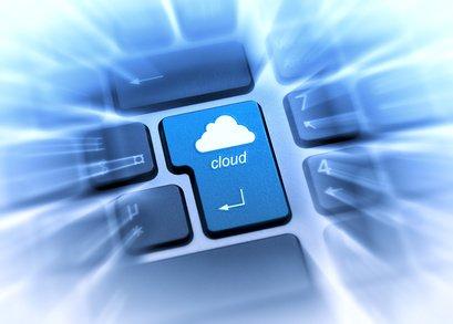 Clavier chiclet touche cloud bleu fond bleu