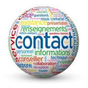 Globe - Nuage de Tags CONTACT (coordonnées service clients aide