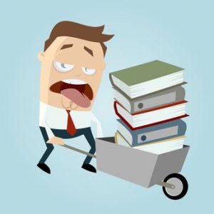 akten stress schieben mann ordner