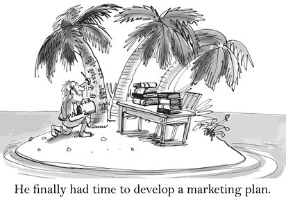 He finally had time to develop a marketing plan.