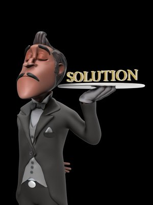 First Class Business Solution Illustration